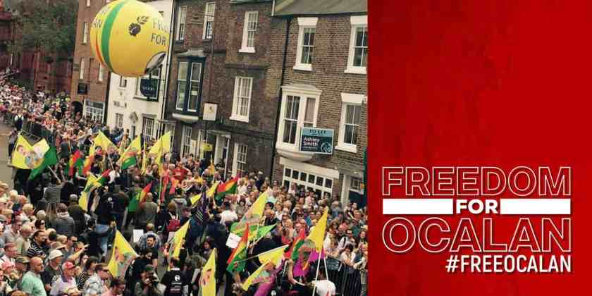Trade union general secretary uses the platform of Durham Miners Gala 2019 to call for Ocalan's release