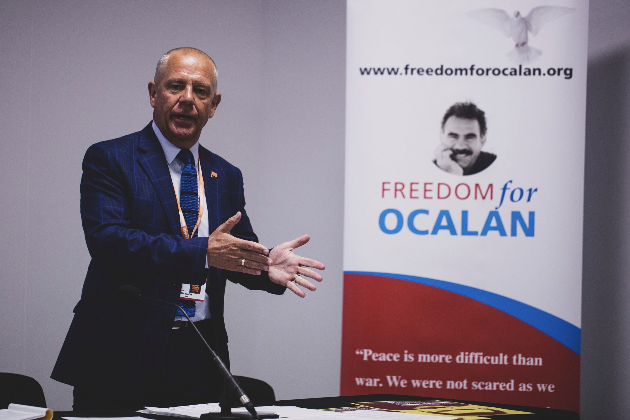 "Tim Roache, General Secretary GMB speaking at ""The battle for Turkey's future"" fringe at TUC 2019 calling for Freedom for Ocalan"