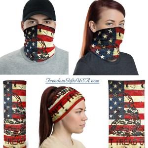 American and Gadsden Flag Composition Neck Gaiter