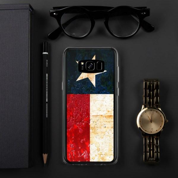 Samsung Galaxy S8 Case Texas flag on Rust Print