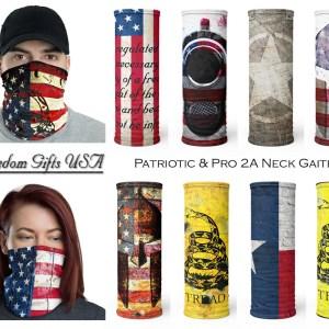 Patriotic Face Masks and Neck Gaiter