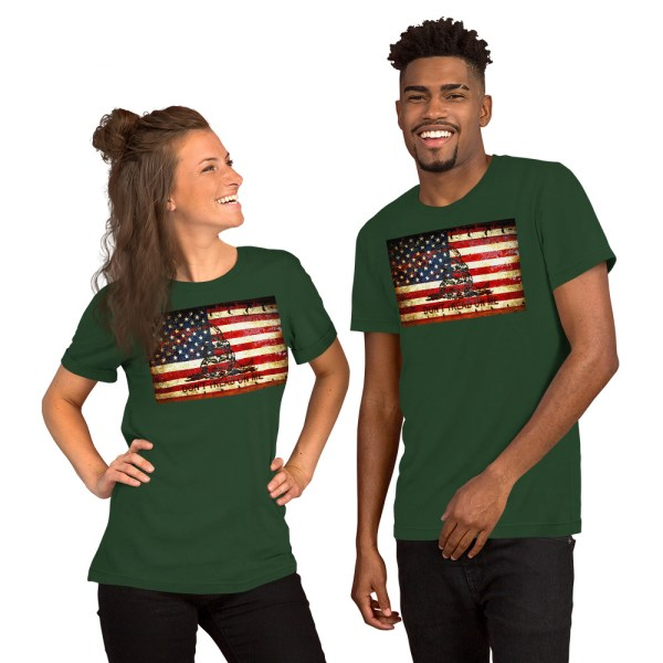 Forrest Unisex T-shirt with Don't Tread On Me – Gadsden & American Flag Composition print