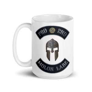 Pro 2nd Amendment - Molon Labe - Spartan Helmet 15 oz Mug