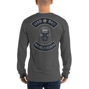 Asphalt Long sleeve t-shirt Mad, Bad and Dangerous Rockers with Skull