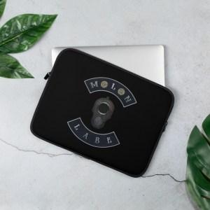 M1911 Muzzle Molon Labe with double 45ACP Case Head Black Laptop, MacBook or Surface Neoprene Sleeve