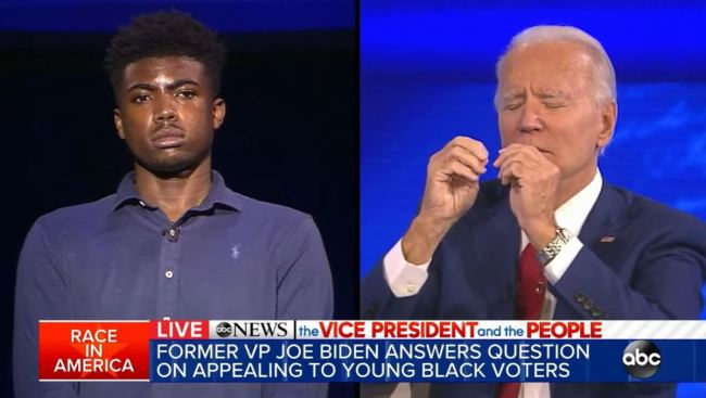 "WATCH: Joe Biden Gets Confronted By Black Man on ""You Ain't Black"" Remark During Town Hall"