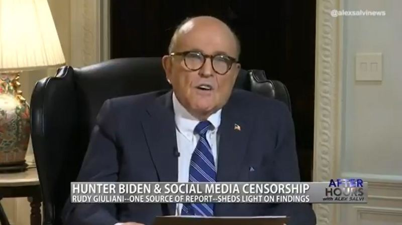 Rudy Giuliani Releases Alleged Private Text Message from Hunter Biden