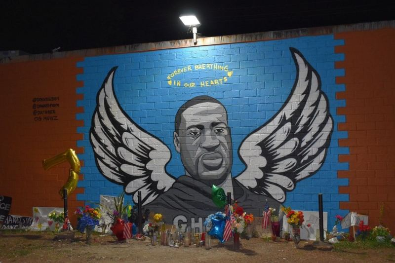 SIGN FROM GOD: George Floyd Memorial Mural DESTROYED By Lightning