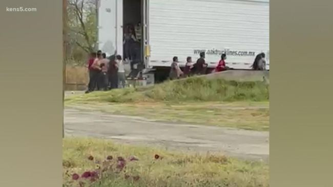 Unbelievable Video Captures Tractor Trailer Full of Immigrants Smuggled into Texas