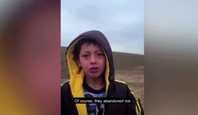 WATCH: Heartbreaking Moment Border Patrol Find Boy Crying and Wandering Alone in Desert After Group Abandons Him