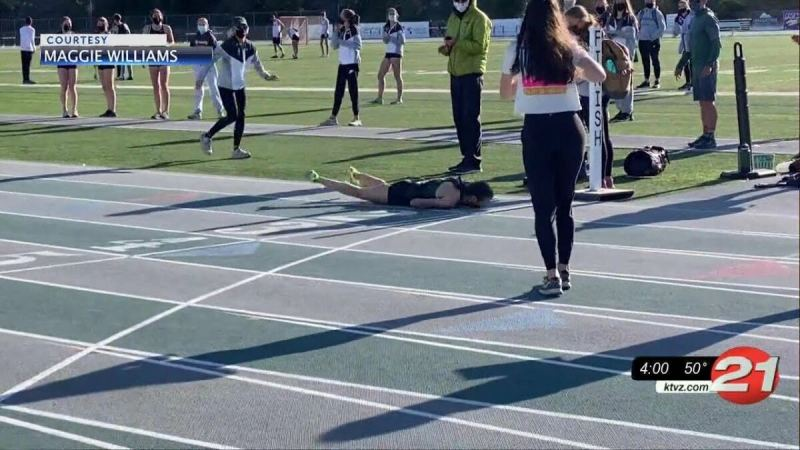Track Runner Collapses After Being Forced to Run with Mask (VIDEO)