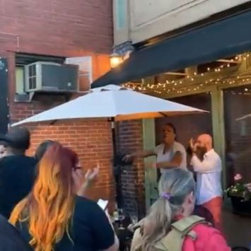 Black Lives Matter Rioters Get Challenged By Angry Restaurant Patron After Ruining Meal