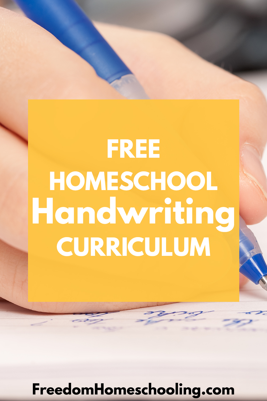 hight resolution of Freedom Homeschooling   Free Homeschool Handwriting Curriculum