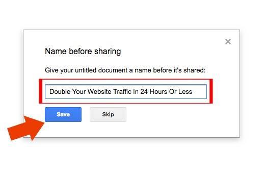 google docs name