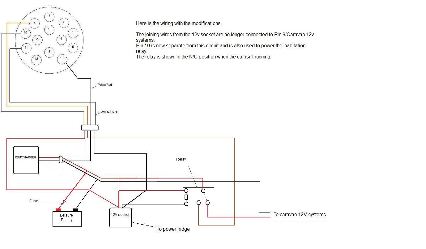 caravan internal wiring diagram stereo color habitation relay electrical