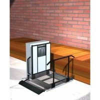 """Freedom 28"""" Outdoor Wheelchair Lift for Home - Straight Left"""