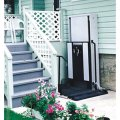 Freedom 52 quot wheelchair porch lift for home straight right