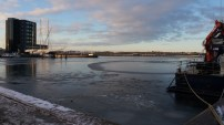 The harbour in winter.
