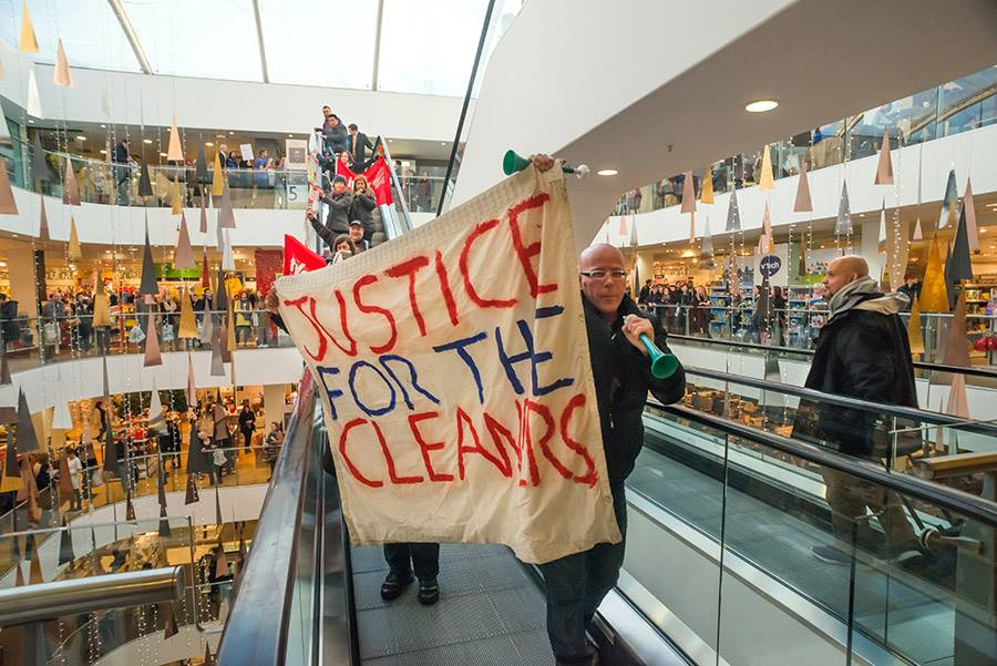 IWGB Cleaners protest inside John Lewis