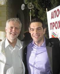 Jeremy Corbyn with Syriza's leader Alexis Tsipras