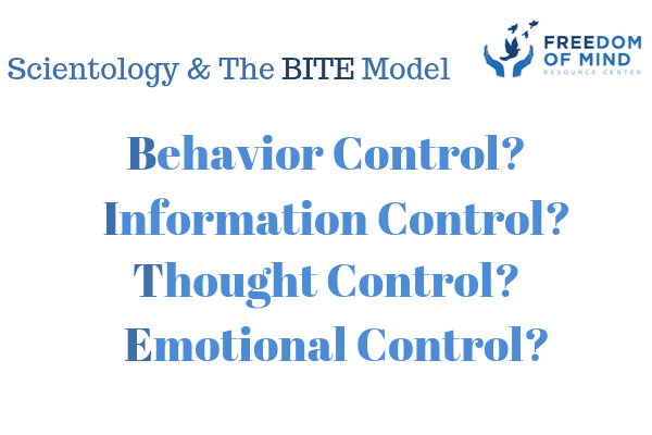 The BITE Model and Scientology