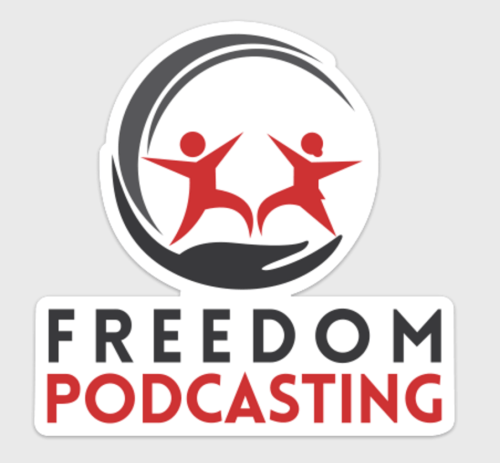 Freedom Podcasting Stickers