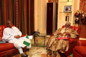 President Muhammadu Buhari and Former Head of State Abdulsalami Abubakar