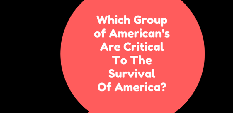 Which Group of American's Are Critical To The Survival Of America?