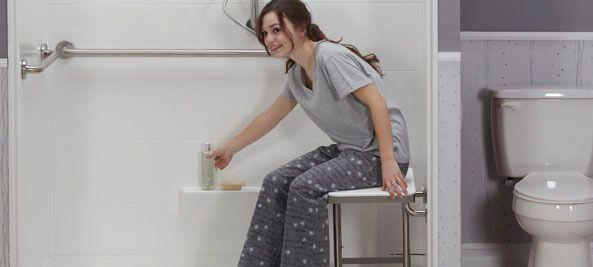 Folding Shower Bench Seats  Freedom Showers Bath Seats