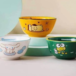 Sanrio卡通公仔陶瓷碗250ml