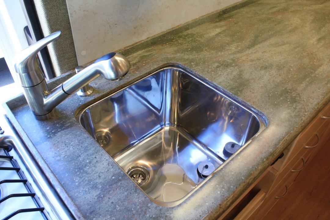 Installed sink in kitchenette