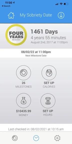 4-year-sobriety-app-checkin-pic