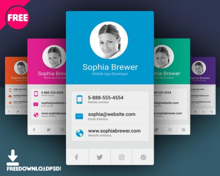 5 Free App Developer Business Cards