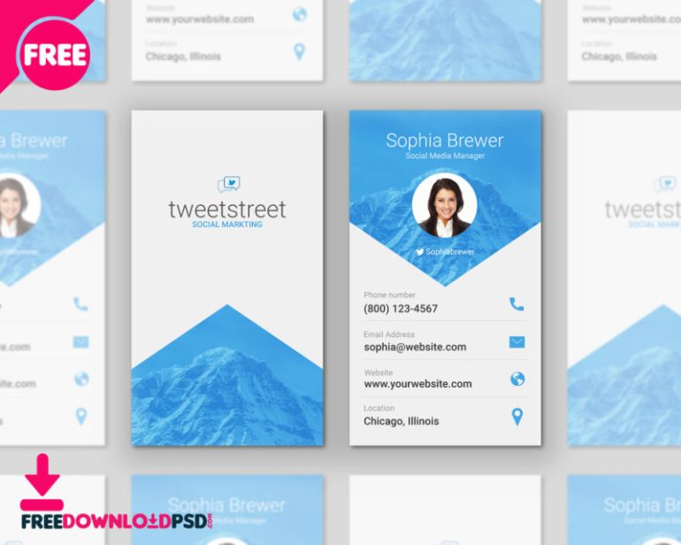 Free Material Design Business Cards PSD