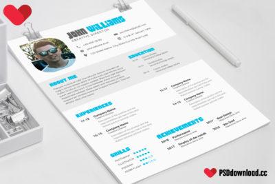 Designer CV Template Free PSD   FreedownloadPSD.com