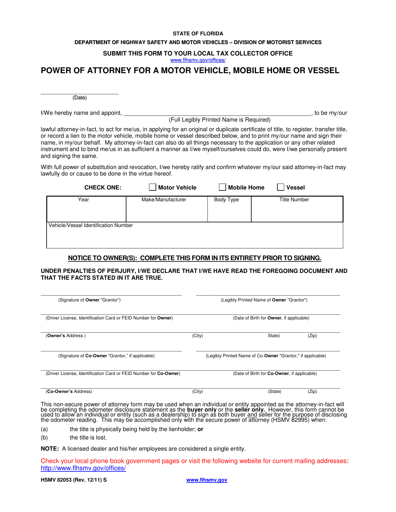 Car Certificate Lien
