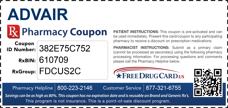 Advair Coupon - Free Prescription Savings at Pharmacies ...