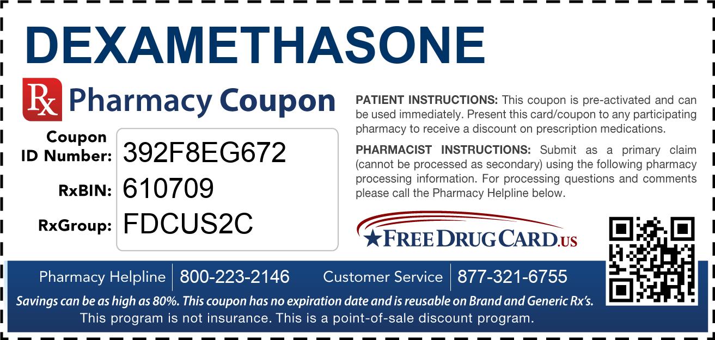 Dexamethasone Coupon - Free Prescription Savings at ...