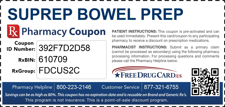 Suprep Bowel Prep Coupon - Free Prescription Savings at ...