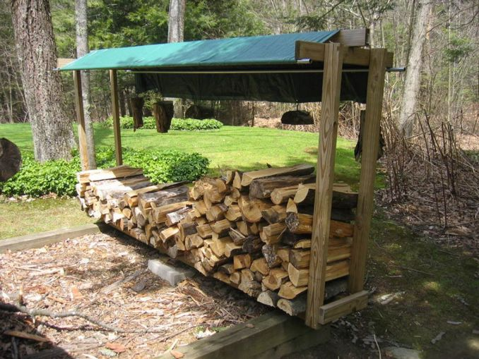 Simple diy outdoor firewood storage