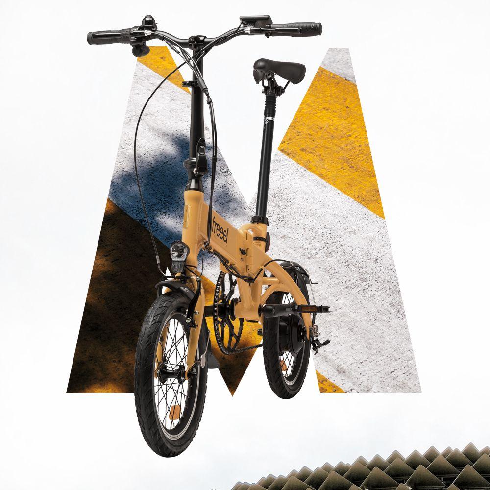 Freeel Bicicletas Eléctricas. Freeel Z03, la bicicleta plegable diseñada en Barcelona. Freeel Z03 Mostaza