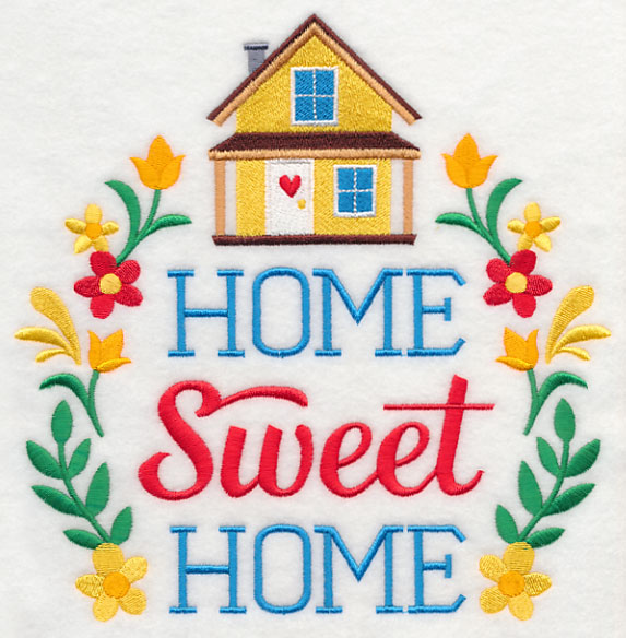 Home Sweet Home FreeEmbroideryDesigns Com