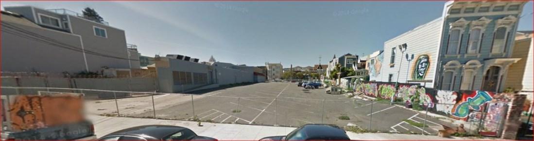 parking lot across st