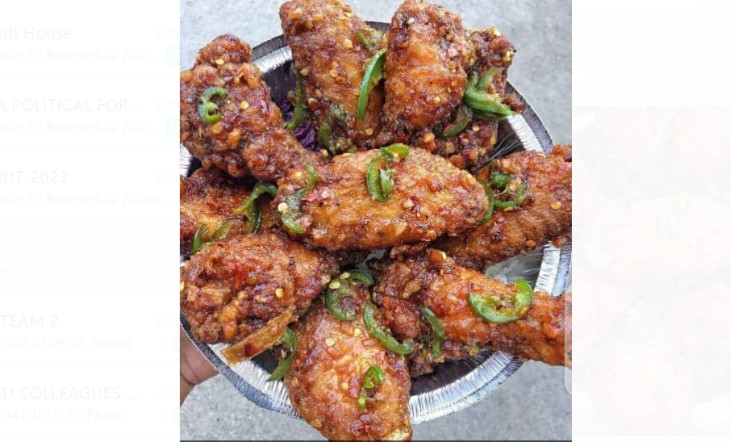 fried chicken wings calories