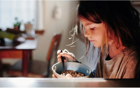 how many calories in a bowl of cheerios with skimmed milk