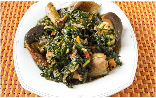 how to cook vegetable soup with ugu