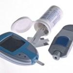 A collection of diabetes equipment.