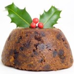 A traditional Christmas pudding.