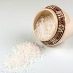A small pot of sea salt.