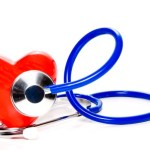 A heart with a stethoscope on it.